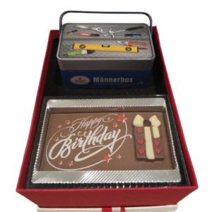 Geschenkbox-M-Männerbox-Happy Birthday