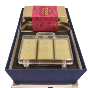 Geschenkbox-Goldkoffer-Goldbarren
