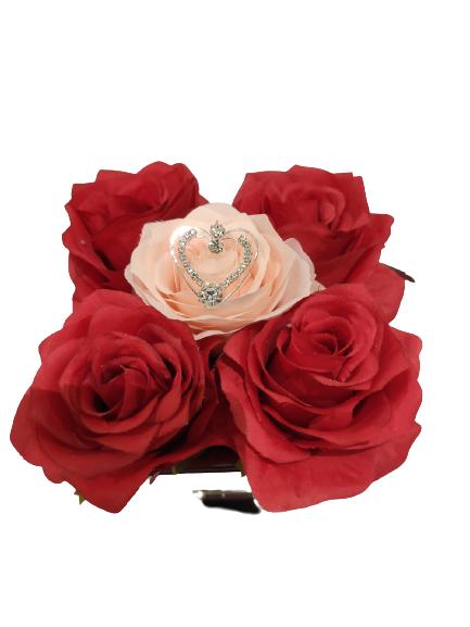 Pokal-Rot-Rosa-Metallherz-20x12-cm