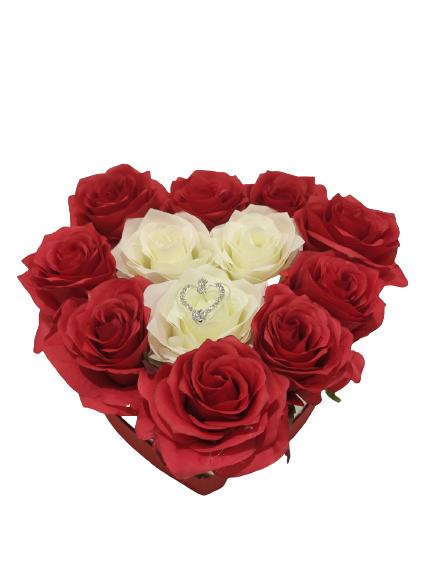 herz-L-Rot-weiß-Rosen
