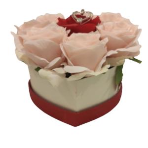 Herz-M-Rosa-Rot-Rose