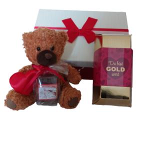Teddy und Goldbarren