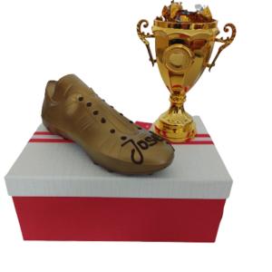 Fußballschuh - Gold und Gold Pokal